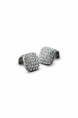 Men Accesories -  Cufflinks Made Of Swarovski and Crystals