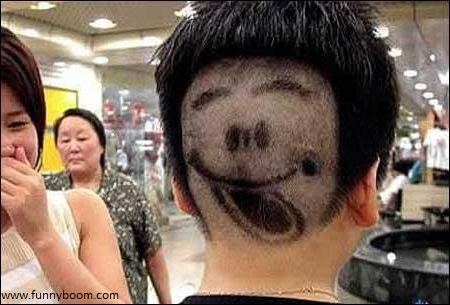 Funny Hair Cut Style New Cutting For Young