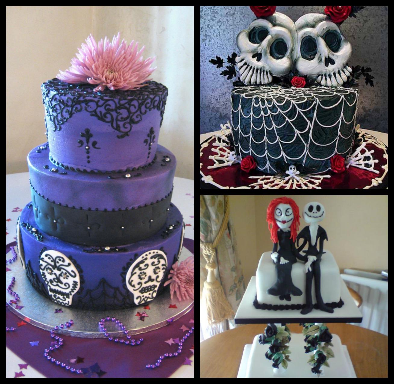 Black Gothic Wedding Cake Viewing Gallery