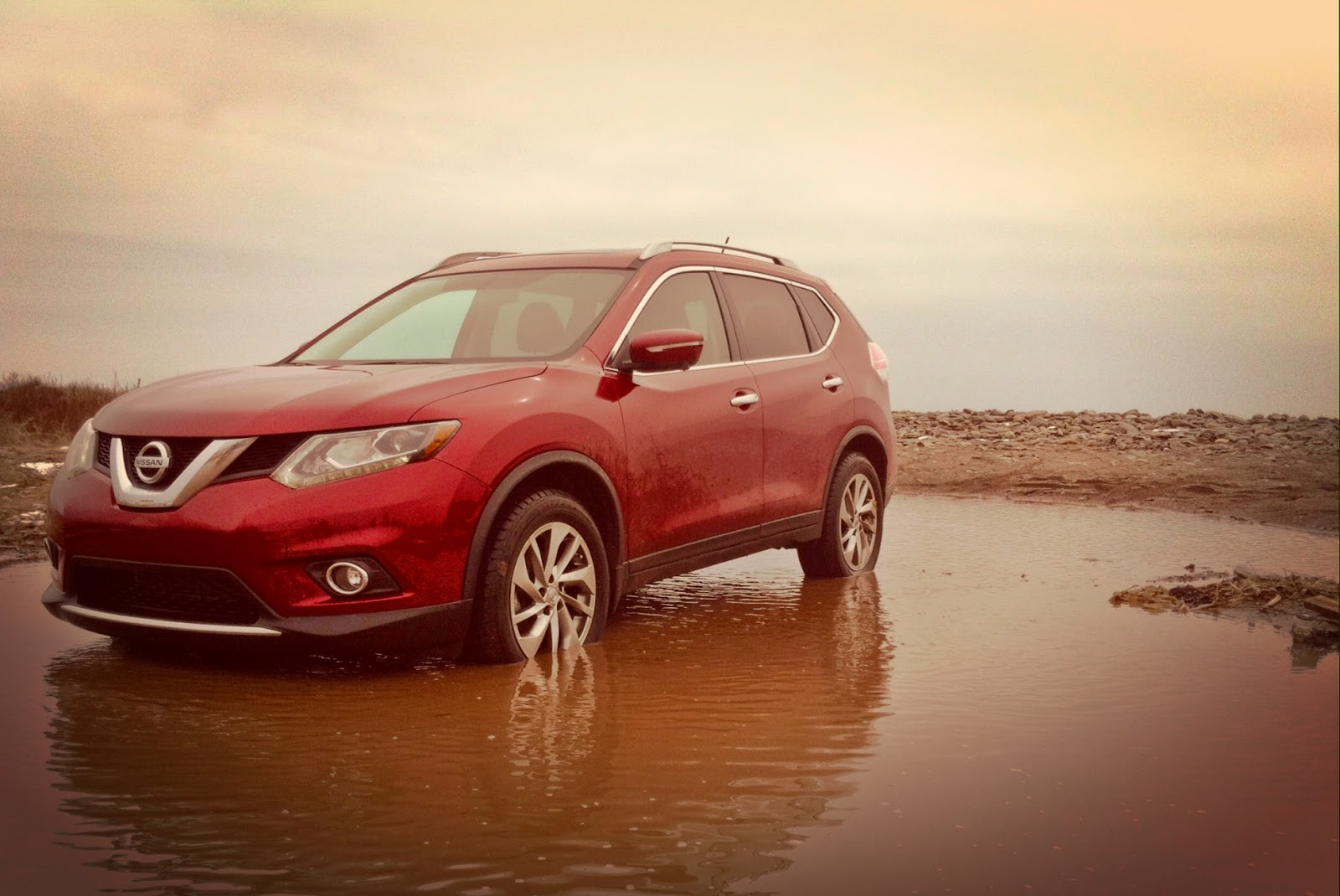 2014 Nissan Rogue red
