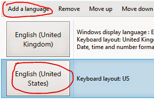 Adding English US language