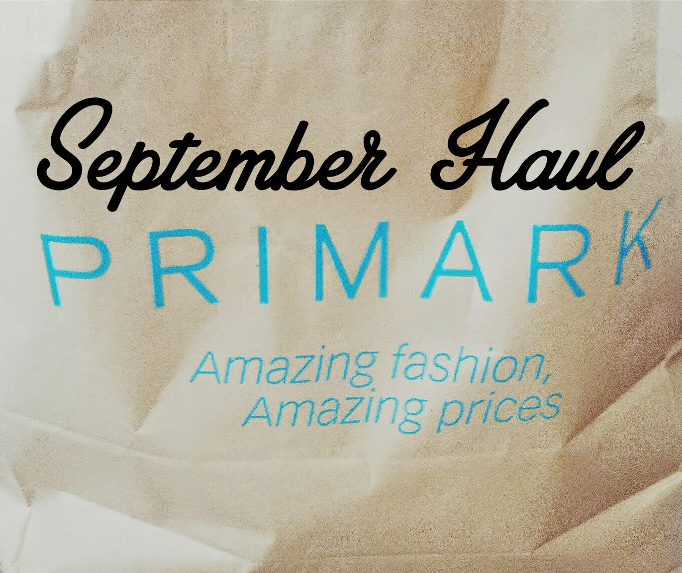 Primark Bristol Haul September 2014