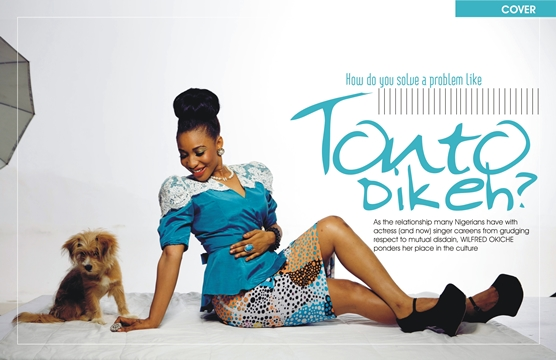 How+do+you+solve+a+problem+like+Tonto+Dikeh Tonto Dikeh covers December issue of Y! Magazine