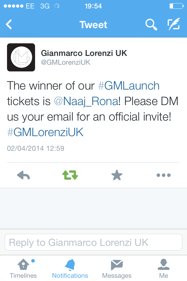 Won the Gianmarco Lorenzi competition