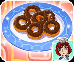 Làm bánh donut socola, game ban gai