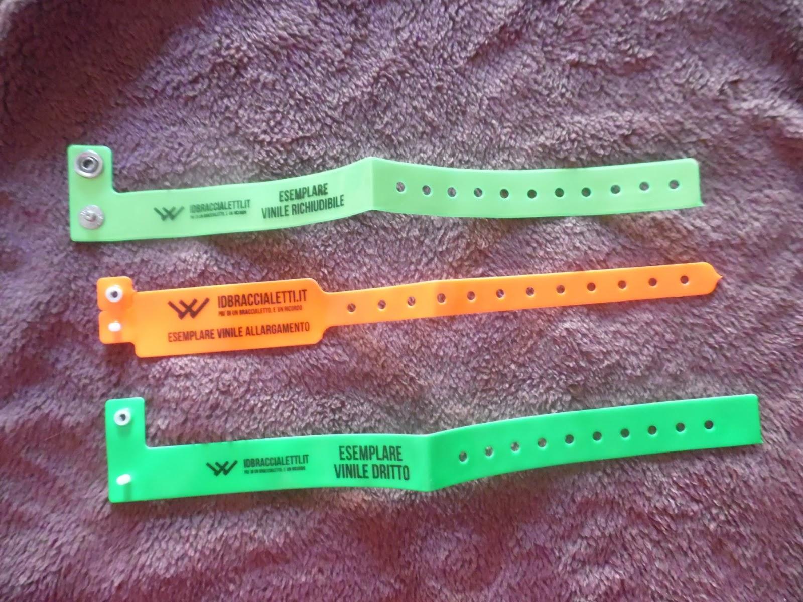 personalizzabili e impermeabili verde chiaro Lotto di 100 braccialetti in plastica// vinile per eventi