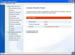 Painel Auslogics Registry Cleaner