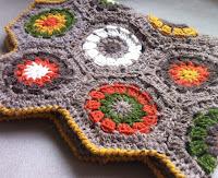 Oppskrift på hexagon teppe