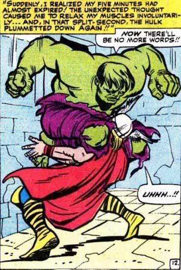 Hulk and Thor comic panel image