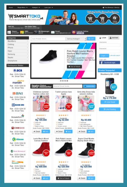 Template wordpress untuk toko online