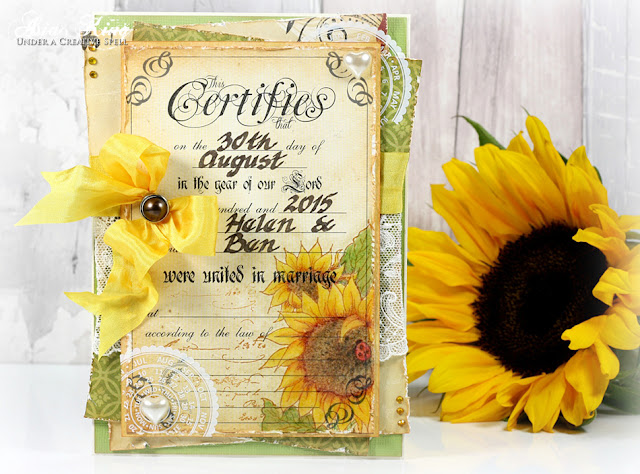 Wedding card Stampendous sunflowers