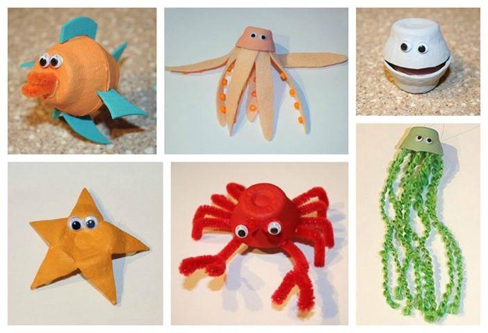 Amado Professora Juce: Animais do Fundo do Mar com caixa de ovos! IV58
