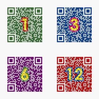 4色4種の「ロゴQ」