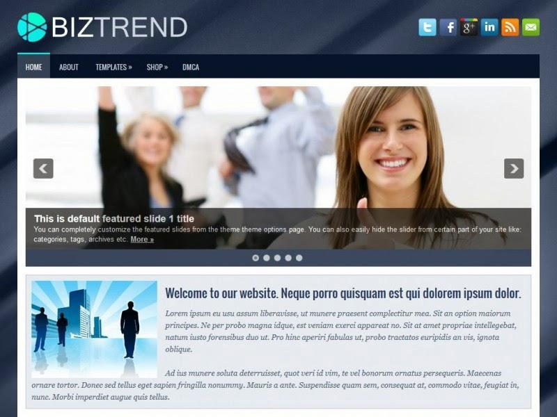 BizTrend - Free Wordpress Theme