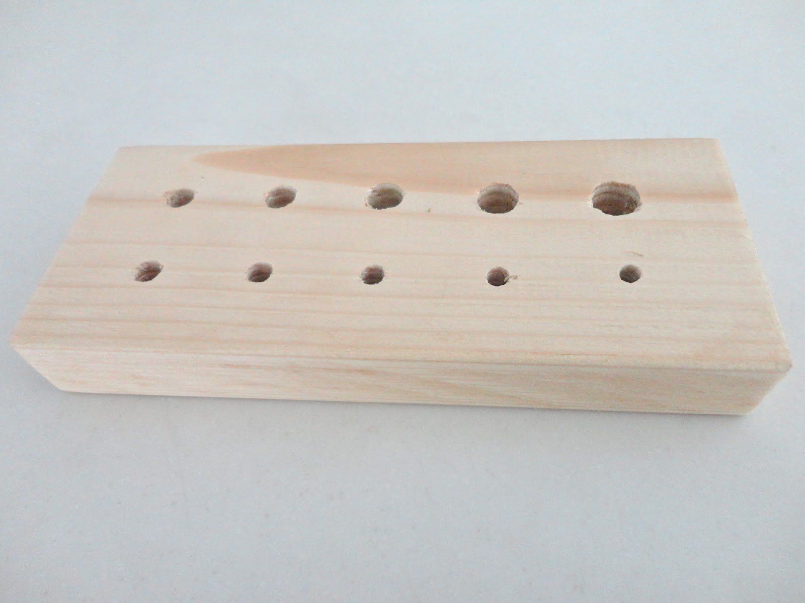 ... I \u0027bribed\u0027 my friend into making a Wooden Draw Plate for me. It is a wooden block with holes of different sizes and she has done a good job & To Bead or Not to Bead? .....: VIRGIN VIKING KNIT