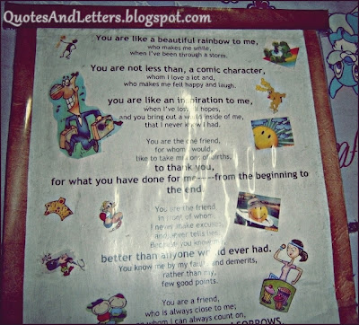 friendship letter