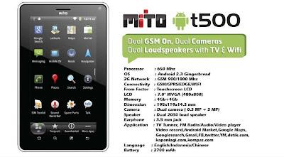 Harga dan Spesifikasi Tablet Mito T500