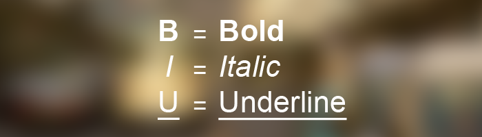 bold, italic, underline - reza pratama