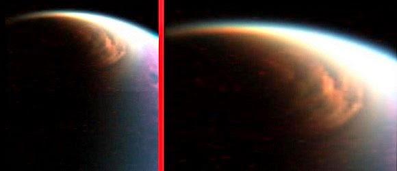 nubes en Titan