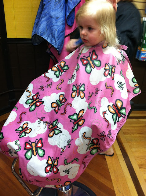 Ingrid's first haircut