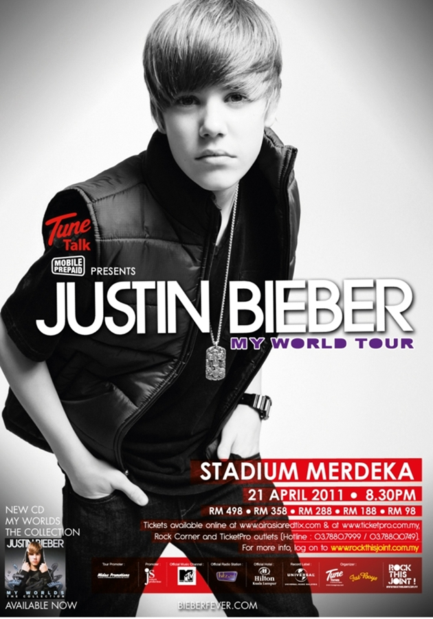 justin bieber in concert poster. new justin bieber posters