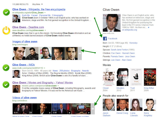 Bing search for Clive Owen