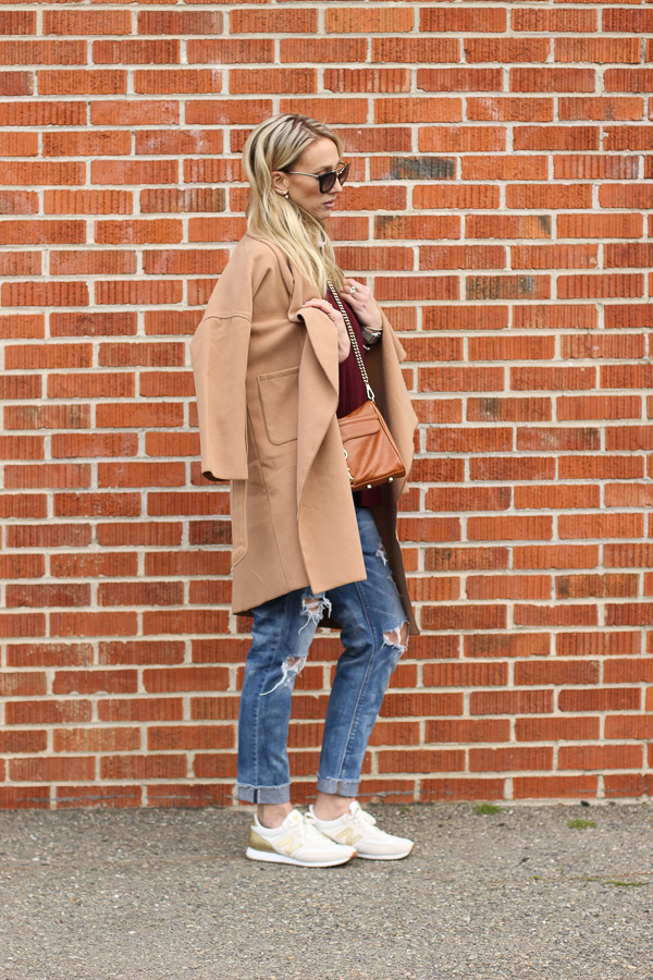sneakers with distressed denim