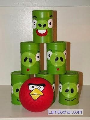 Làm đồ chơi vận động Angry Bird cho bé