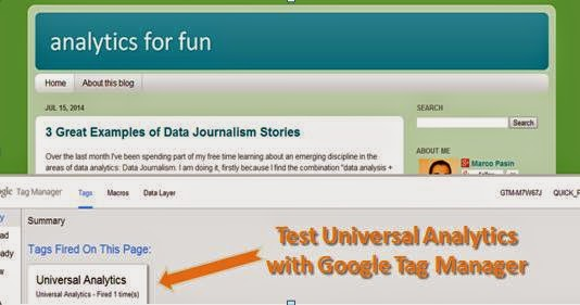 Test Universal Analytics with Google Tag Manager