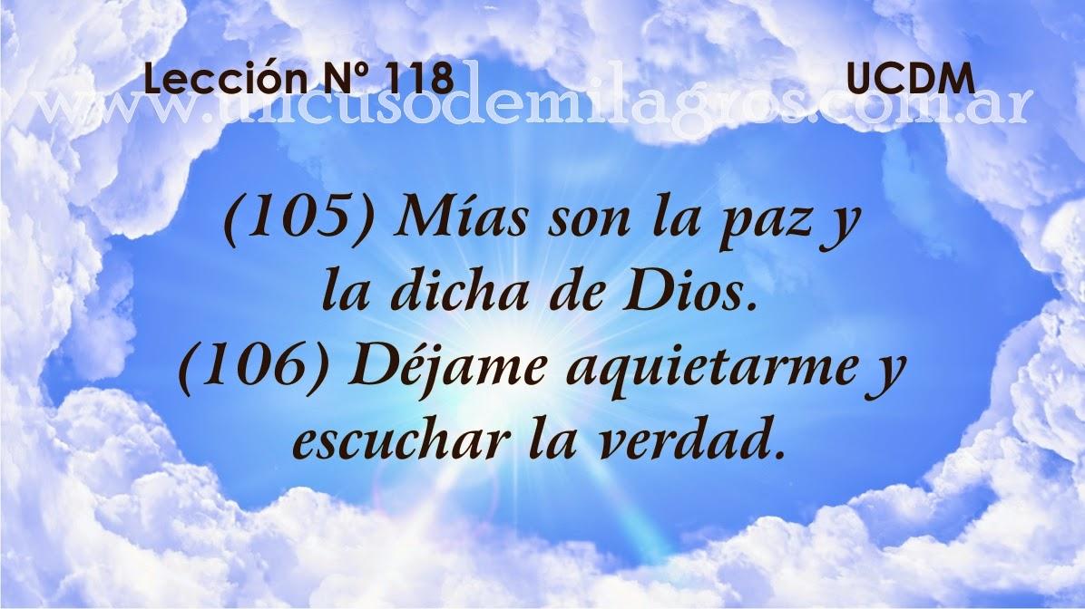 Leccion 118, Un Curso de Milagros
