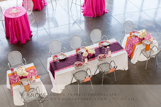Pink, plum, and orange wedding by Take the Cake Event Planning