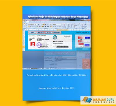 Download Aplikasi Kartu Pelajar dan NISN dilengkapi Barcode dengan Microsoft Excel Terbaru 2015