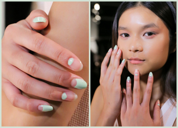 Charlotte Ronson Spring 2015 negative space nails