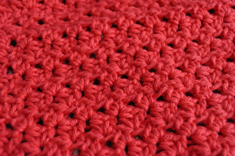 Back To School Crocheted Apple Scrubbie And Dishcloth Free Pattern