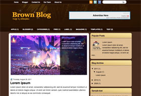 BrownBlog Blogger Template