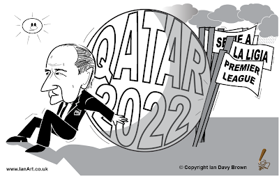 Sepp Blatter Qatar 2022 cartoon