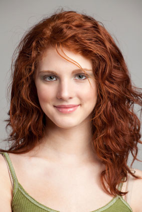 to Natural red hair brunette