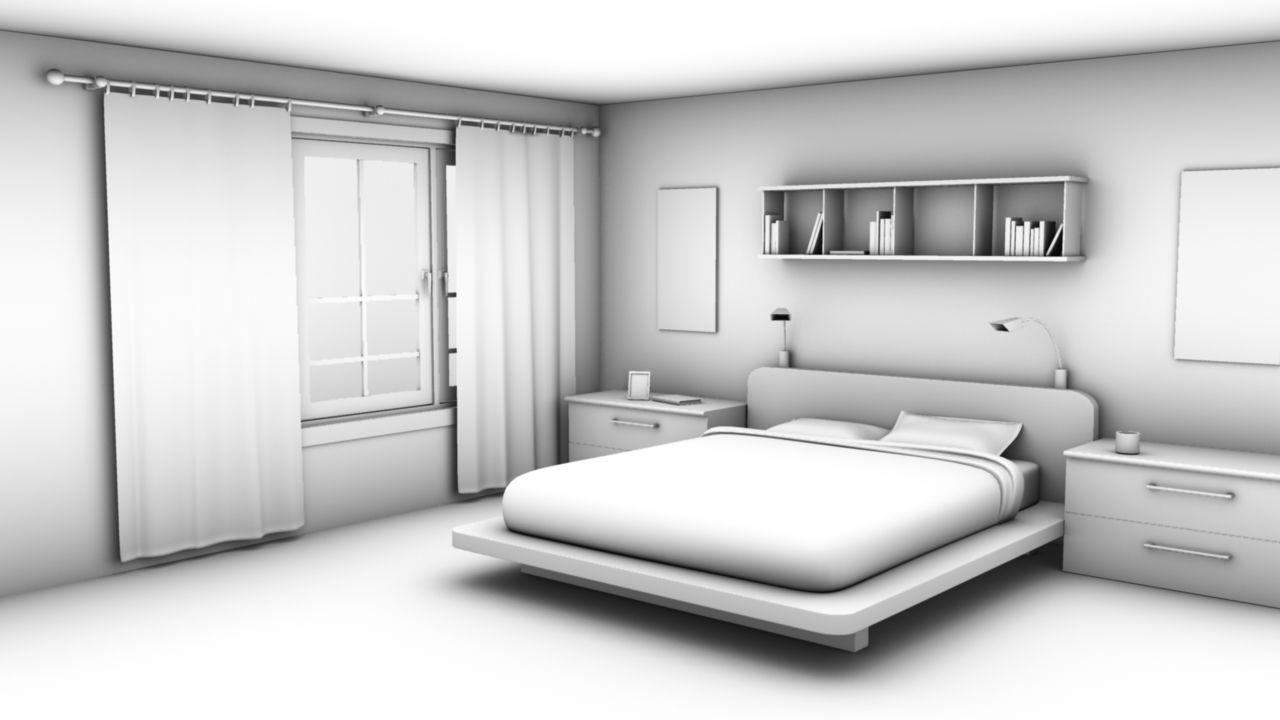 bluebird interior modeling in maya. Black Bedroom Furniture Sets. Home Design Ideas