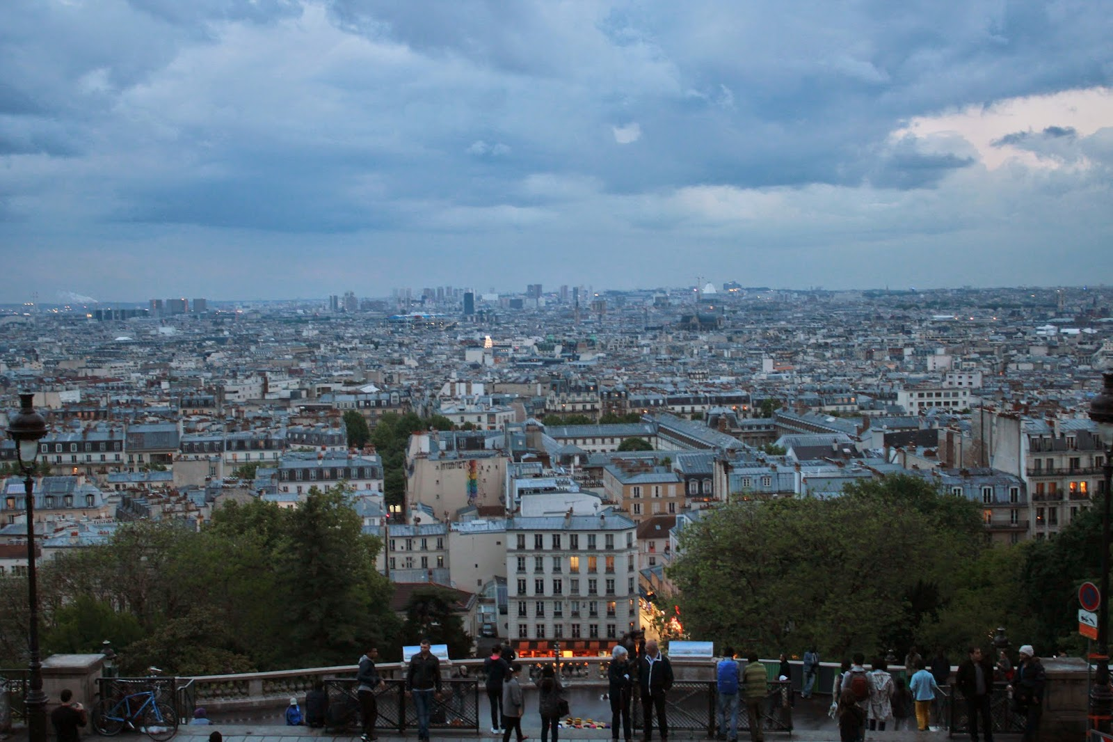 A view of the city of Paris from Montmartre