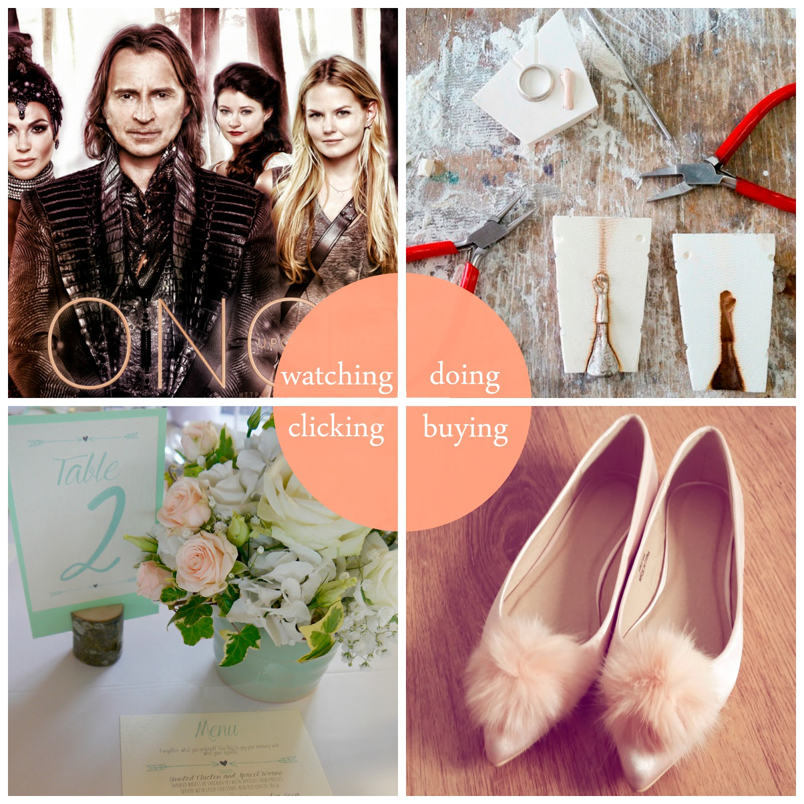 round up, July, best bits, Once Upon a Time, jewellery class, summer school, DJCAD, jewellery making, lost wax casting, ASOS pom pom shoes, pom pom flats, wedding stationery, pinterest