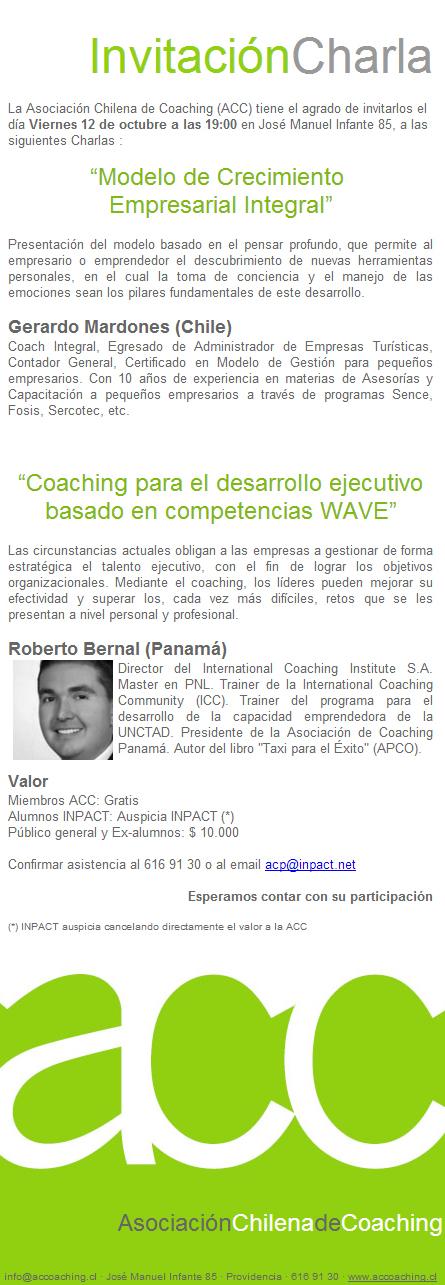 coaching Invitación Charla