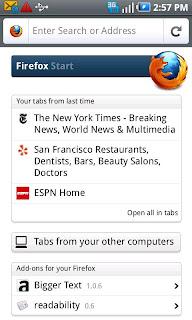 Firefox 6.0.2 apk, browser Terbaik Untuk Android
