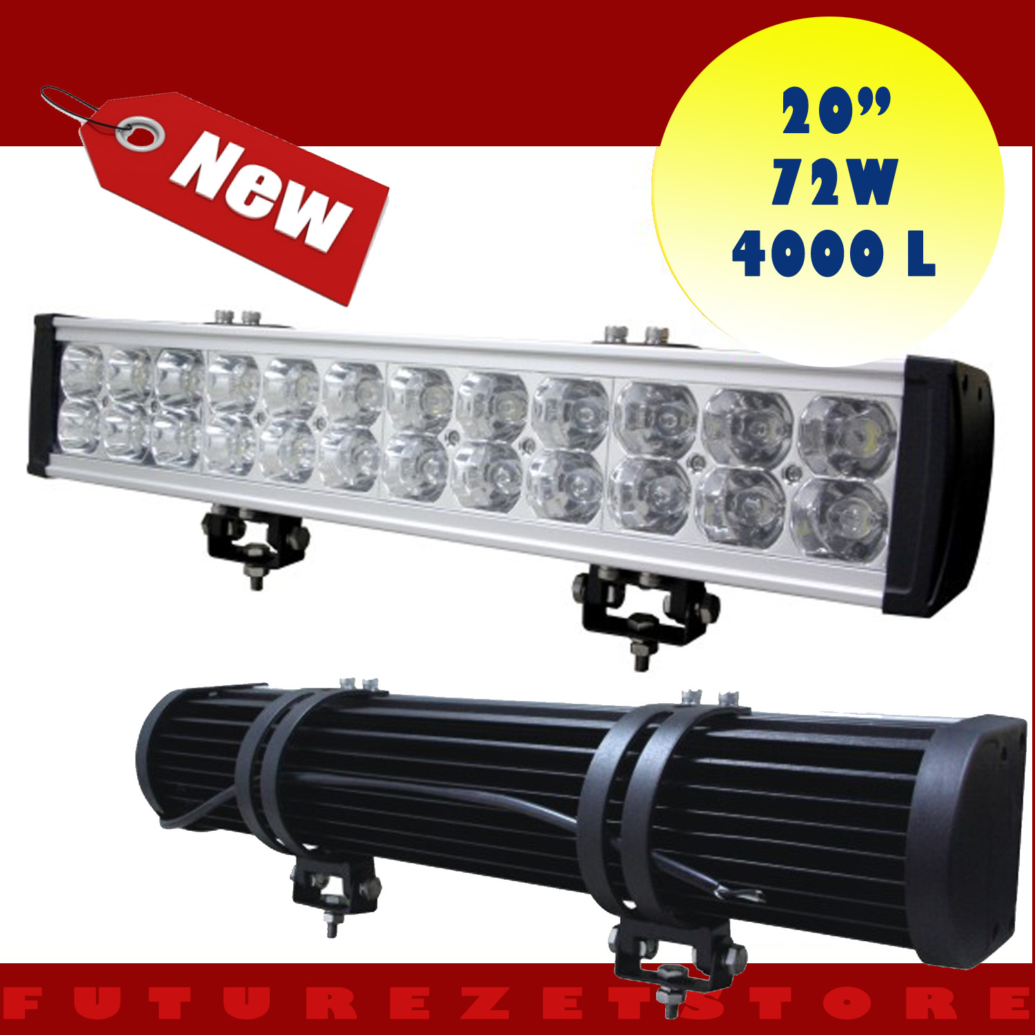 High Power 200w 20 Inch Jeep Accessories Led Light Bar For: 20 Inch 72W 4000 Lumen Led Light Bar OFFROAD JEEP ATV Boat