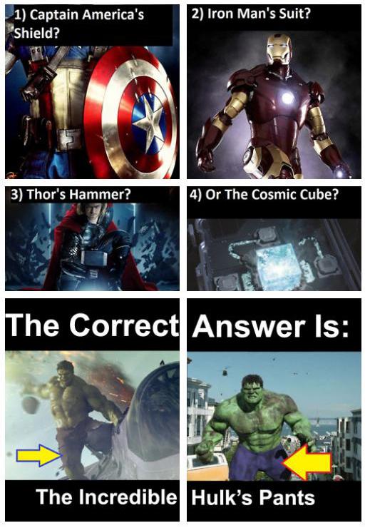 barang takkan musnah dalam The Avengers