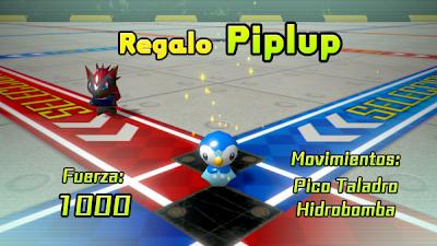 Pokemon Rumble U Piplup de Regalo