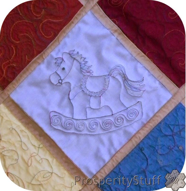 ProsperityStuff Rocking Horse Quilt Block