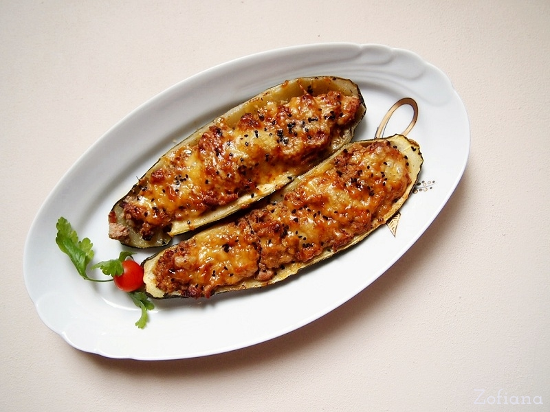 Pork Stuffed Zucchini