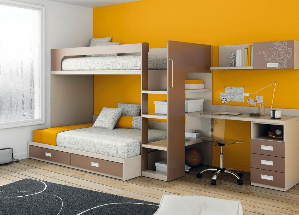 Tienda dormitorios juveniles decoraci n integral para tu for Escritorios dobles juveniles