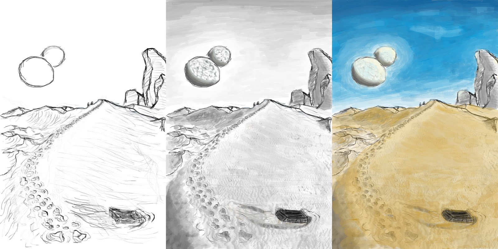 Book Cover Illustration Assignment : Todd allison illustration assignment dune