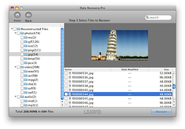 leawo data recovery mac: preview and recovery